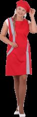 Униформа ВИНТАЖ, красный-серый