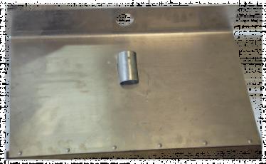Лопата дюралевая 1 бортная 500х320 с накладкой для ЖКХ