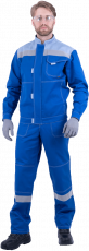 Костюм РАЦИОНАЛИЗАТОР, василёк-серый, 100% х/б, (куртка, полукомбинезон)