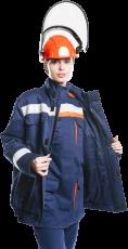 Куртка - накидка 52 кал/см2 из огнезащитной ткани WORKER